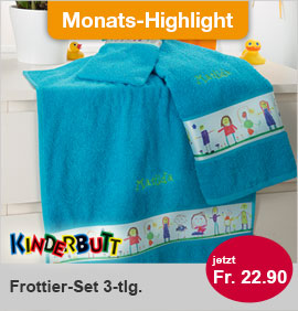 Kinderbutt Frottier-Set 3tlg.